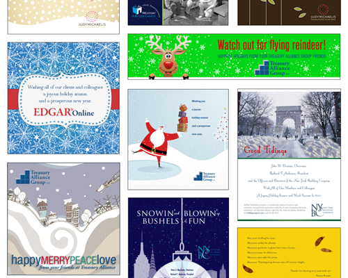 custom holiday card designs, graphic design, connecticut, nyc, celebrations, event graphic design