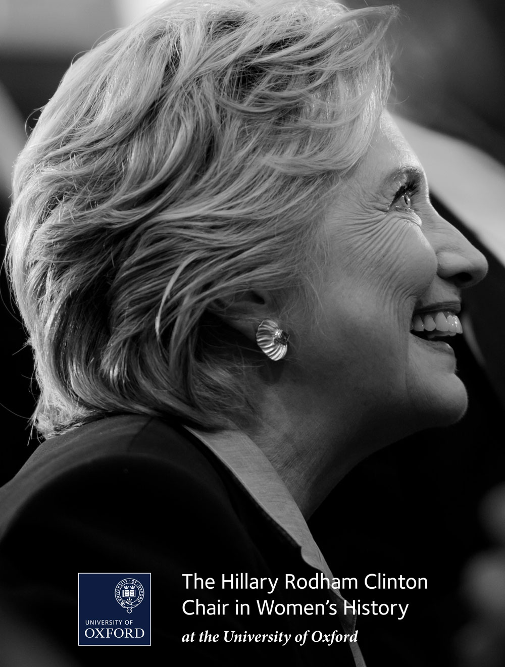 The Hillary Rodham Clinton Chair in Women's History, brochure design