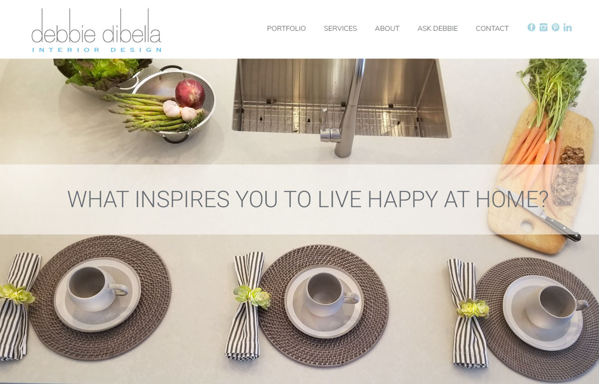 interior designer website design, westport, ct