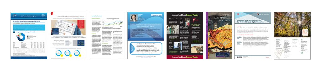 brochure document design samples