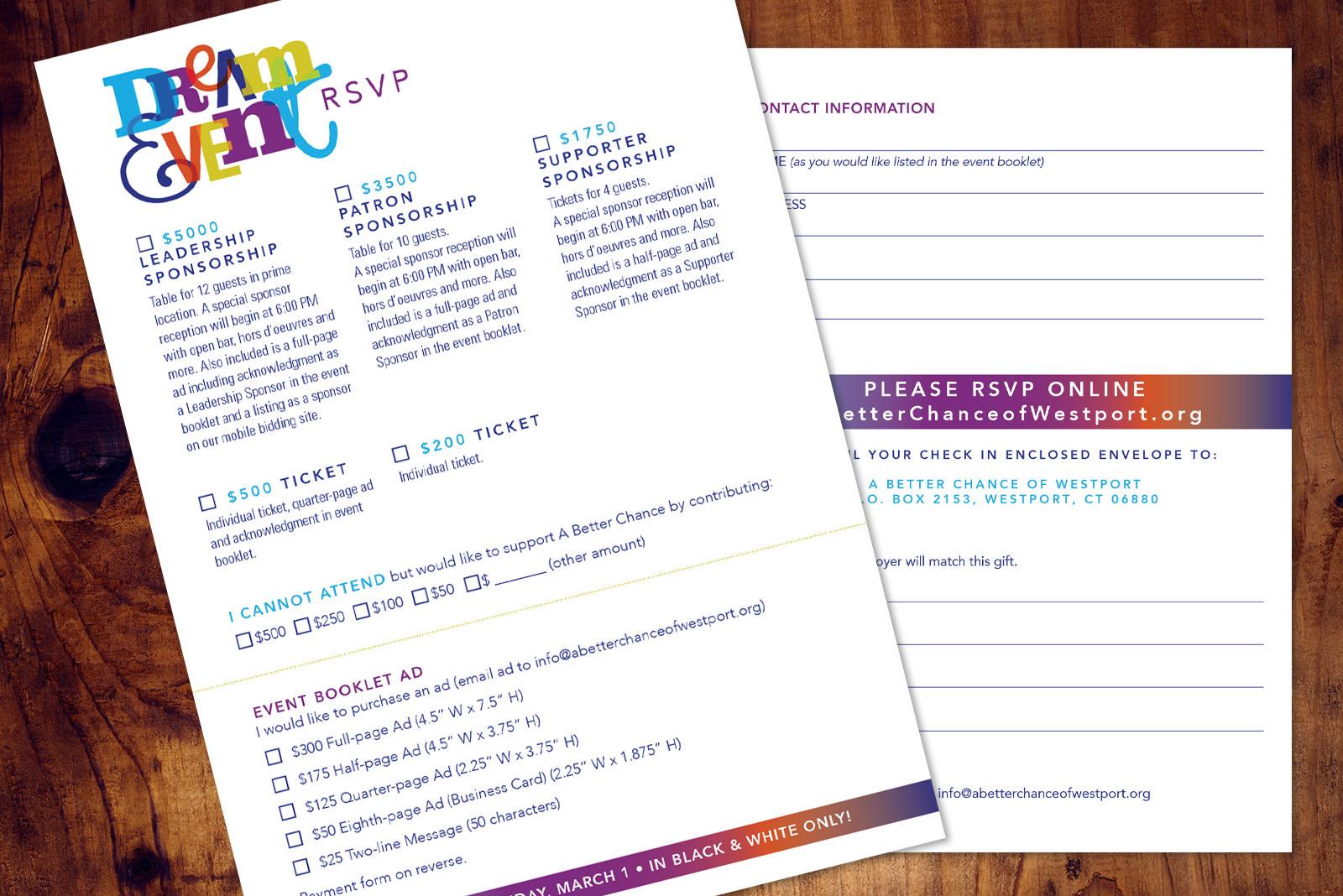 A Better Chance, non profit invitation design, westport, ct